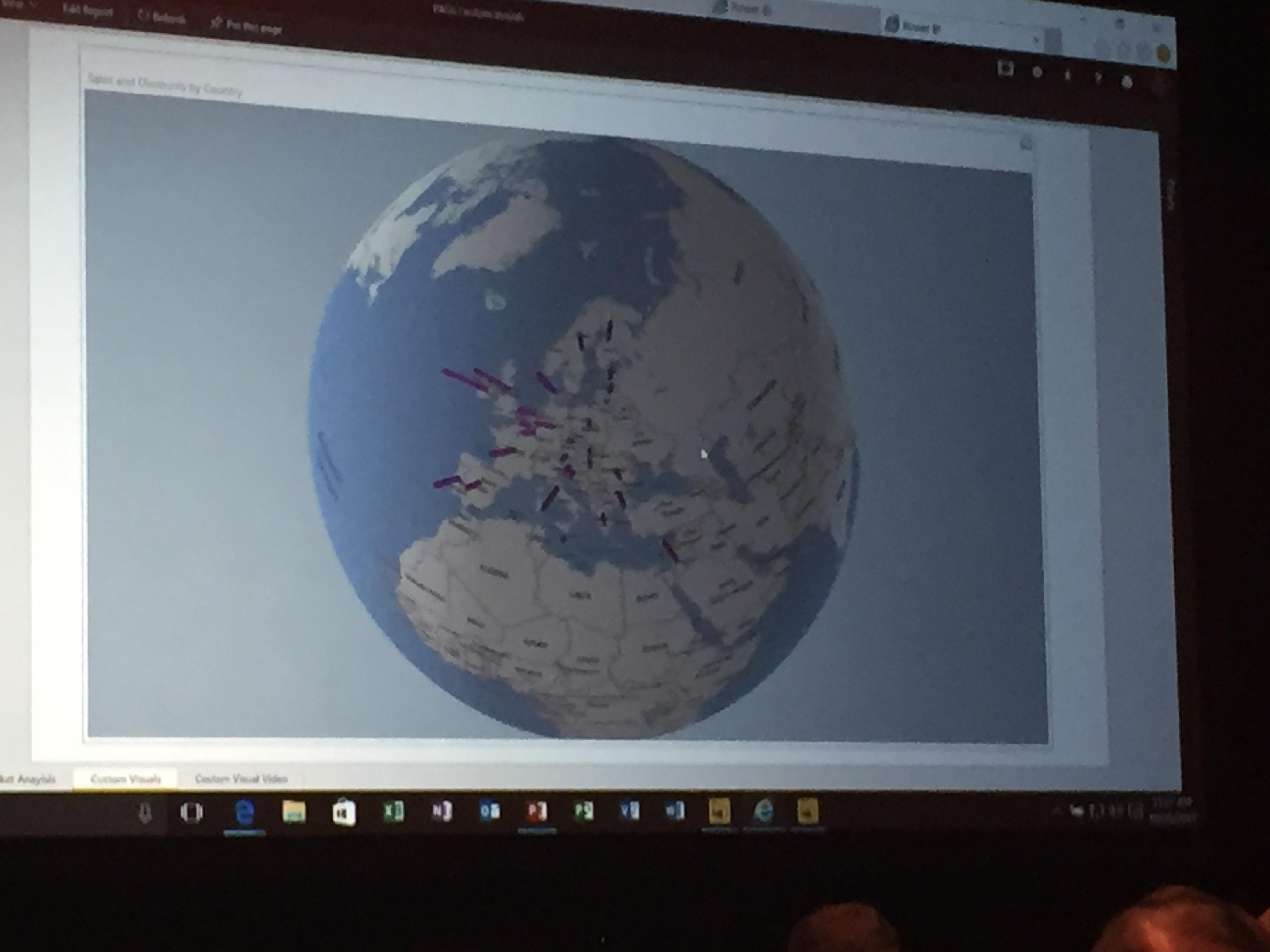PowerMap Visualisierung in Power BI Desktop