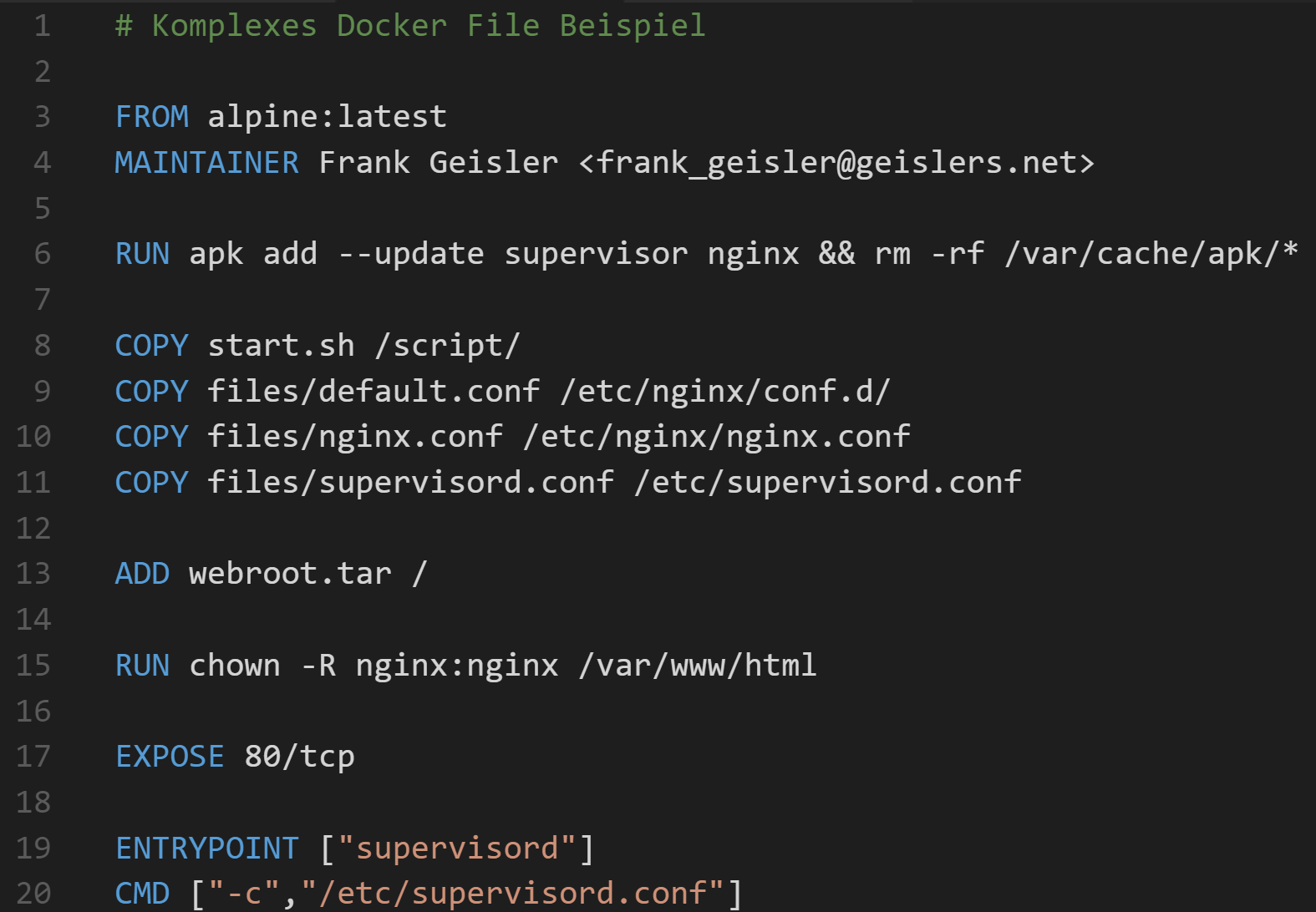 Docker Blogbeitrag 20 – Ein komplexes Image bauen – GDS Business ...